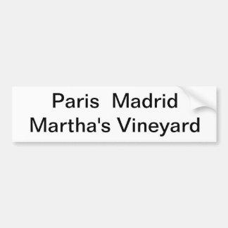 Pegatina para el parachoques del Martha's Vineyard Pegatina Para Auto