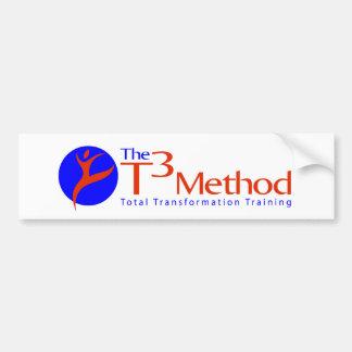Pegatina para el parachoques del método T3 Pegatina Para Coche