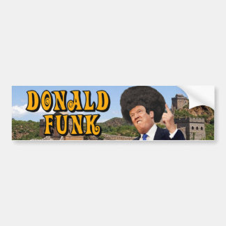 Pegatina para el parachoques del miedo de Donald Pegatina Para Auto