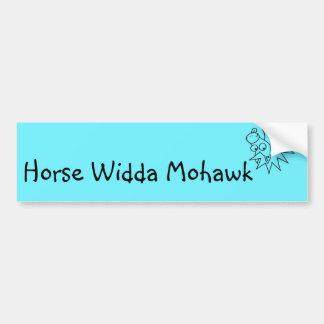 Pegatina para el parachoques del Mohawk de Widda Pegatina Para Auto