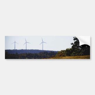 Pegatina para el parachoques del molino de viento  pegatina para auto