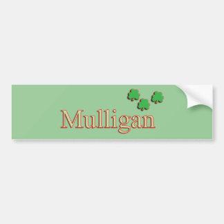 Pegatina para el parachoques del Mulligan Etiqueta De Parachoque