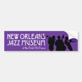 Pegatina para el parachoques del museo del jazz de pegatina para auto
