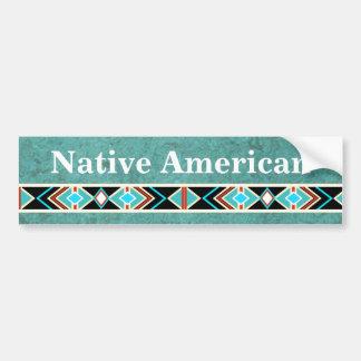 PEGATINA PARA EL PARACHOQUES del nativo americano Pegatina Para Auto