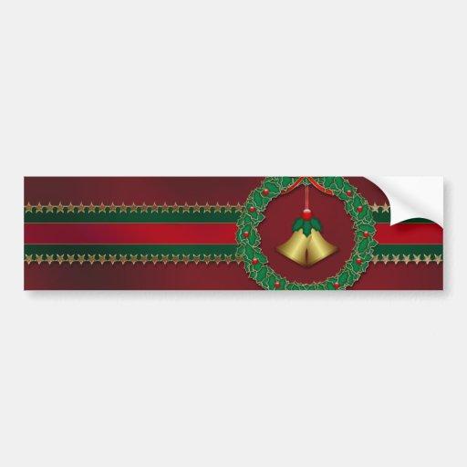 Pegatina para el parachoques del navidad de las ba etiqueta de parachoque