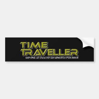 Pegatina para el parachoques del negro del viajero pegatina de parachoque