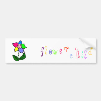 Pegatina para el parachoques del niño de flor pegatina para auto