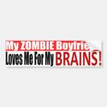 Pegatina para el parachoques del novio del zombi pegatina de parachoque
