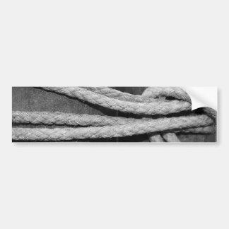 Pegatina para el parachoques del nudo de la cuerda pegatina para auto