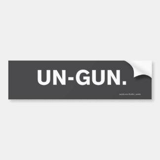 """Pegatina para el parachoques del """"O.N.U-Arma"""" Pegatina De Parachoque"""