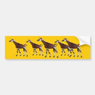Pegatina para el parachoques del Okapi Pegatina Para Auto