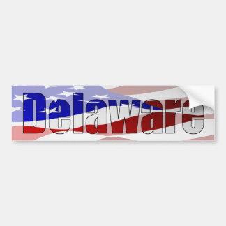 Pegatina para el parachoques del orgullo de Delawa Pegatina Para Auto