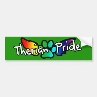 Pegatina para el parachoques del orgullo de Theria Pegatina De Parachoque