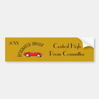 Pegatina para el parachoques del oro del conductor etiqueta de parachoque