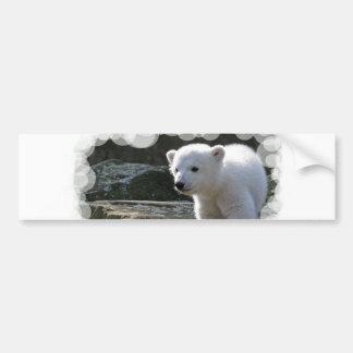 Pegatina para el parachoques del oso polar del beb pegatina de parachoque