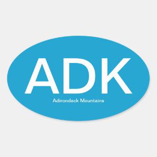 Pegatina para el parachoques del óvalo de ADK de