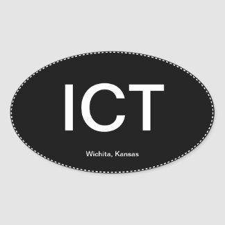 Pegatina para el parachoques del óvalo de las TIC