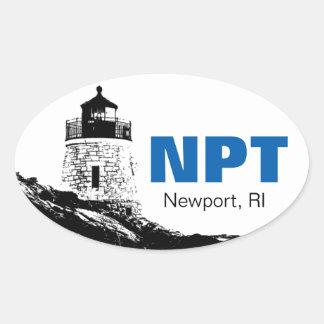 Pegatina para el parachoques del óvalo de Newport,