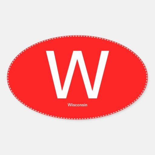 Pegatina para el parachoques del óvalo de W Wiscon