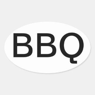 PEGATINA PARA EL PARACHOQUES DEL ÓVALO DEL BBQ