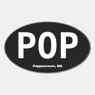 Pegatina para el parachoques del óvalo del POP Pop