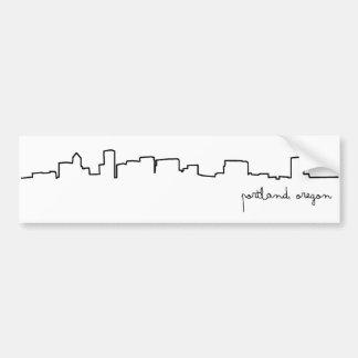 Pegatina para el parachoques del paisaje urbano de pegatina para auto