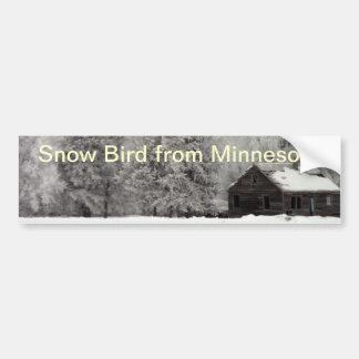 Pegatina para el parachoques del pájaro de la niev pegatina para auto