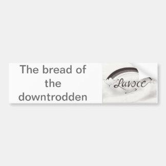 Pegatina para el parachoques del pan etiqueta de parachoque