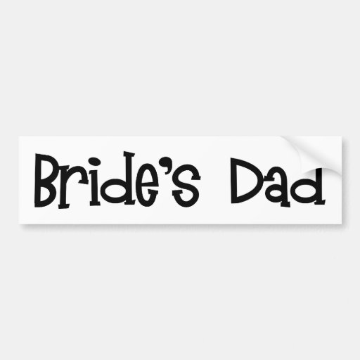 Pegatina para el parachoques del papá de la novia  pegatina para auto