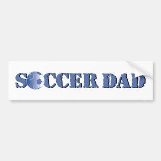 Pegatina para el parachoques del papá del fútbol etiqueta de parachoque