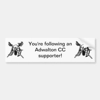 Pegatina para el parachoques del partidario de Adw Pegatina Para Auto