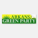 Pegatina para el parachoques del Partido Verde de  Etiqueta De Parachoque
