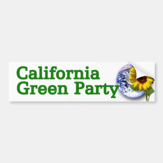 Pegatina para el parachoques del Partido Verde de  Pegatina Para Auto