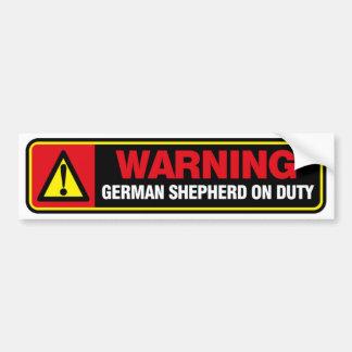 Pegatina para el parachoques del pastor alemán pegatina para auto