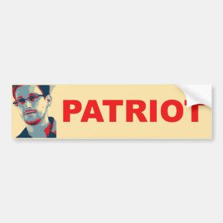 Pegatina para el parachoques del patriota de Ed Sn Pegatina Para Auto