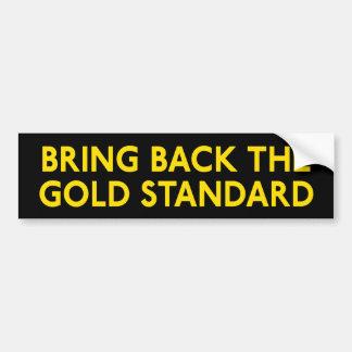 Pegatina para el parachoques del patrón oro etiqueta de parachoque