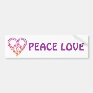 Pegatina para el parachoques del Paz-Corazón Pegatina Para Auto