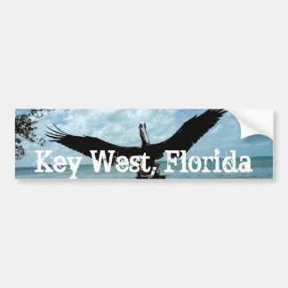 Pegatina para el parachoques del pelícano de Key W Pegatina Para Auto