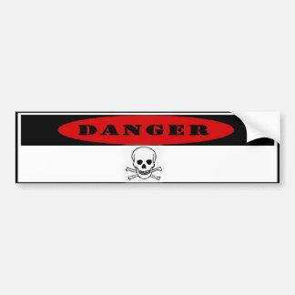 Pegatina para el parachoques del peligro pegatina para auto