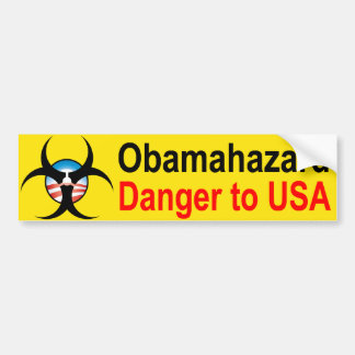 Pegatina para el parachoques del peligro de Obama Pegatina Para Auto