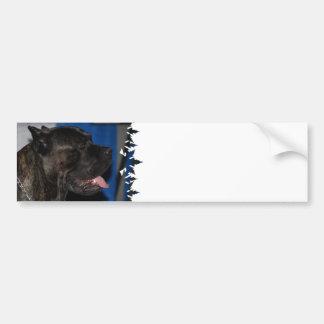 Pegatina para el parachoques del perro de Corso de Pegatina Para Auto