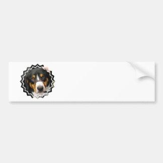 Pegatina para el parachoques del perro de la monta pegatina para auto