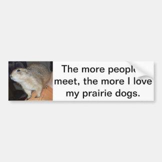 Pegatina para el parachoques del perro de las prad etiqueta de parachoque