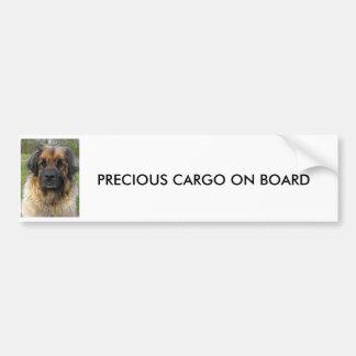 PEGATINA PARA EL PARACHOQUES del perro de Leonberg Pegatina Para Auto