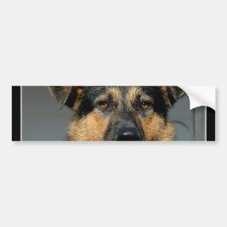 Pegatina para el parachoques del perro de pastor a pegatina de parachoque