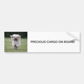 PEGATINA PARA EL PARACHOQUES del perro de Pekinges Pegatina De Parachoque