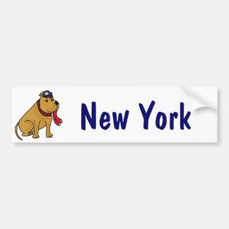 Pegatina para el parachoques del perro del béisbol pegatina para auto