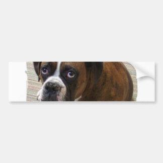 Pegatina para el parachoques del perro del boxeado pegatina para auto