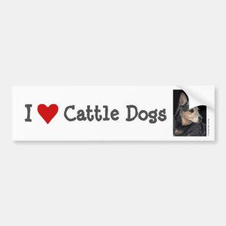 Pegatina para el parachoques del perro del ganado pegatina para auto