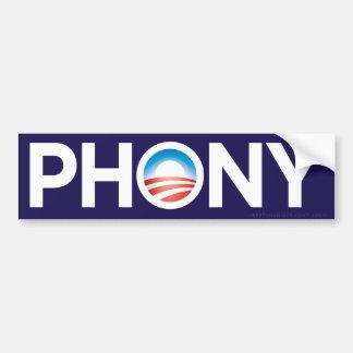 Pegatina para el parachoques del Phony de Obama Pegatina De Parachoque